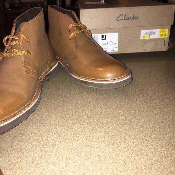 8c8cf47050c NWT! Clarks Bushacre 2 Chukka Boots - Tan Leather NWT